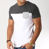/achat-t-shirts-poche/lbo-tee-shirt-poche-191-gris-anthracite-blanc-103137.html