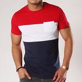 /achat-t-shirts-poche/lbo-tee-shirt-poche-118-bleu-blanc-rouge-97148.html