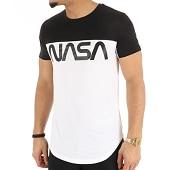 /achat-t-shirts-longs-oversize/nasa-tee-shirt-oversize-worm-logo-bicolore-blanc-noir-124500.html