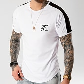 /achat-t-shirts-longs-oversize/final-club-tee-shirt-premium-fit-avec-bande-et-broderie-039-blanc-127959.html