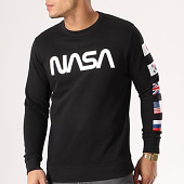 /achat-sweats-col-rond-crewneck/nasa-sweat-crewneck-flags-noir-134610.html
