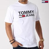 /achat-t-shirts/tommy-hilfiger-jeans-tee-shirt-classics-4837-blanc-142038.html