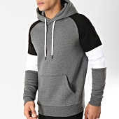 /achat-sweats-capuche/lbo-sweat-capuche-tricolore-566-gris-fonce-blanc-noir-164338.html