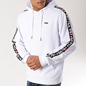 /achat-sweats-capuche/fila-sweat-capuche-avec-bandes-david-tape-687023-blanc-165966.html