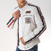/achat-vestes-cuir/redskins-veste-cuir-patchs-brodes-ripper-calista-blanc-bleu-marine-171977.html
