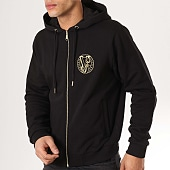 /achat-sweats-zippes-capuche/versace-jeans-sweat-zippe-capuche-tum303-b7gtb7fd-36604-noir-dore-173163.html