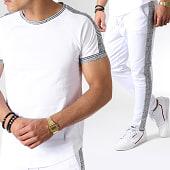 /achat-ensembles-survetement/frilivin-ensemble-tee-shirt-oversize-pantalon-jogging-a-carreaux-avec-bandes-5197a-blanc-noir-183641.html