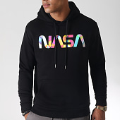 /achat-sweats-capuche/nasa-sweat-capuche-iridescent-worm-logo-noir-185175.html