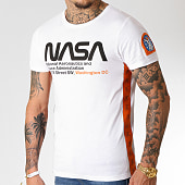 /achat-t-shirts/final-club-x-nasa-tee-shirt-space-administration-avec-bandes-et-broderie-252-blanc-185753.html
