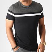 /achat-t-shirts/lbo-tee-shirt-tricolore-801-gris-anthracite-noir-blanc-185741.html