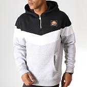 /achat-sweats-capuche/ellesse-sweat-capuche-col-zippe-tricolore-1032n-noir-blanc-gris-chine-186307.html
