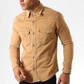 /achat-chemises-manches-longues/zayne-paris-chemise-jean-manches-longues-2970-camel-186336.html