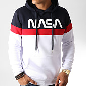 /achat-sweats-capuche/nasa-sweat-capuche-tape-tricolore-bleu-marine-blanc-rouge-186847.html
