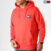 /achat-sweats-capuche/tommy-hilfiger-jeans-sweat-capuche-badge-6593-rouge-186842.html