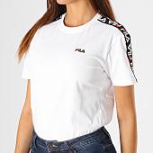 /achat-t-shirts/fila-tee-shirt-femme-a-bandes-adalmiina-687215-blanc-noir-rouge-188115.html