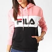 /achat-sweats-capuche/fila-sweat-capuche-femme-lori-687042-rose-noir-blanc-190831.html