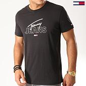 /achat-t-shirts/tommy-hilfiger-jeans-tee-shirt-script-logo-7011-noir-blanc-192550.html