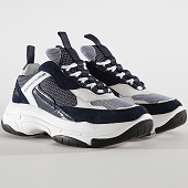 /achat-baskets-basses/calvin-klein-baskets-marvin-low-top-lace-up-b4s0133-white-navy-193855.html